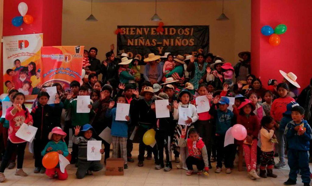 niños participantes